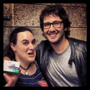 Me, Josh Groban, and a Box of Salonpas.