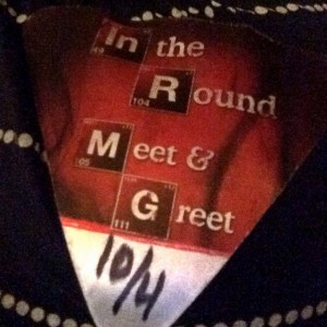 The Breaking Bad inspired Meet & Greet Pass.